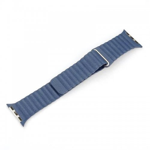 42mm Leather Loop Strap Watchband for Apple Watch iWatch - Blue