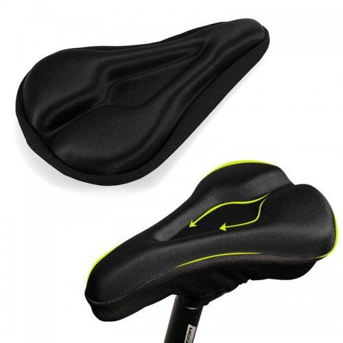 3D Cycling Bike Bicycle Soft Gel Seat Cover Saddle Padding Cushion - Black