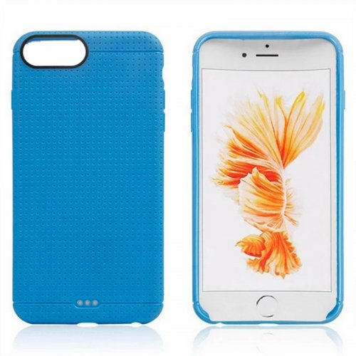Honeycomb TPU Protective Phone Back Cover Case for iPhone 7 - Blue