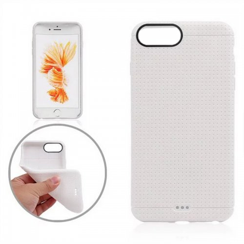 Honeycomb TPU Protective Phone Back Cover Case for iPhone 7 - White