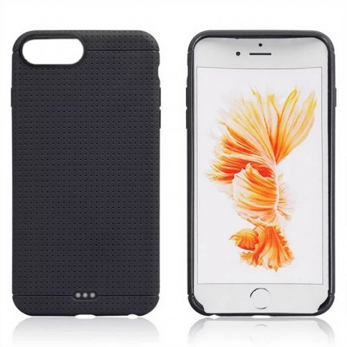 Honeycomb TPU Protective Phone Back Cover Case for iPhone 7 - Black