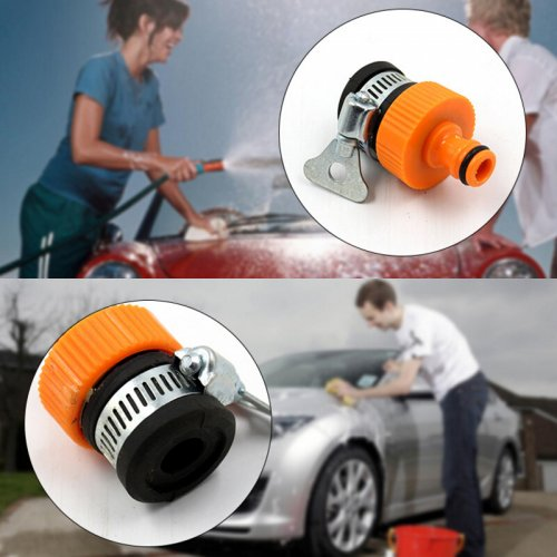 Universal Plastic Nipple Shape Car Garden Faucet Connector Water Tap Joint