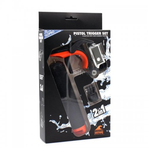 Floating Pistol Trigger Handle Grip Holder For GoPro Hero 1/2/3/3/4/Xiaomi-yi - Orange