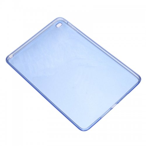 Clear Soft TPU Protective Back Case Cover Skin for iPad Mini 4 - Blue