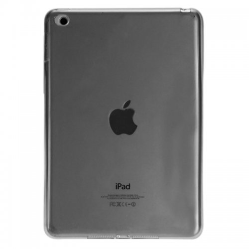 Clear Soft TPU Protective Back Case Cover Skin for iPad Mini 4 - Black