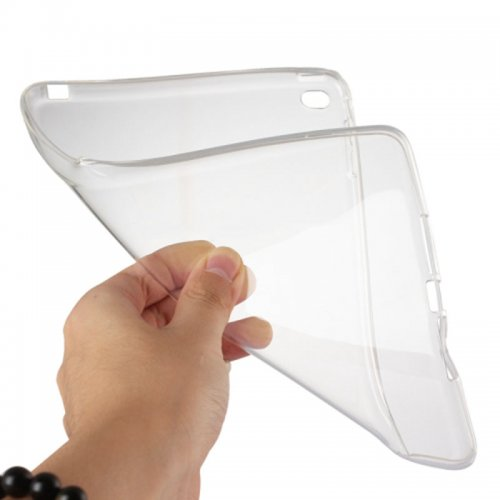 Clear Soft TPU Protective Back Case Cover Skin for iPad Mini 4 - Transparent