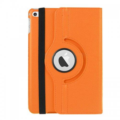 360 degree Rotating PU Leather Flip Stand Case Cover Skin for iPad Mini 4 - Orange