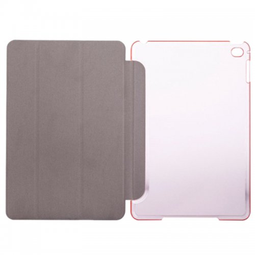 Slim PU Leather Magnetic Tri-Fold Smart Stand Cover Case for iPad Mini 1/2/3 - Pink