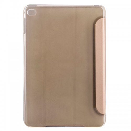 Slim PU Leather Magnetic Tri-Fold Smart Stand Cover Case for iPad Mini 1/2/3 - Golden