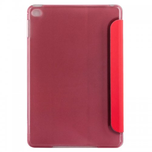 Slim PU Leather Magnetic Tri-Fold Smart Stand Cover Case for iPad Mini 1/2/3 - Red