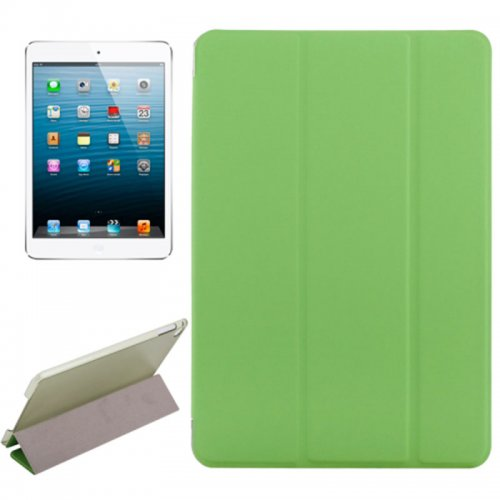 Slim PU Leather Magnetic Tri-Fold Smart Stand Cover Case for iPad Mini 4 - Green