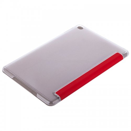 Slim PU Leather Magnetic Tri-Fold Smart Stand Cover Case for iPad Mini 4 - Red