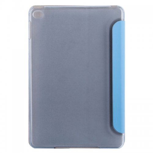 Slim PU Leather Magnetic Tri-Fold Smart Stand Cover Case for iPad Mini 4 - Blue