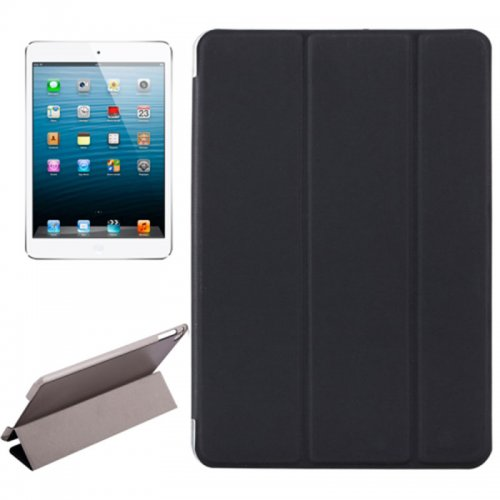 Slim PU Leather Magnetic Tri-Fold Smart Stand Cover Case for iPad Mini 4 - Black