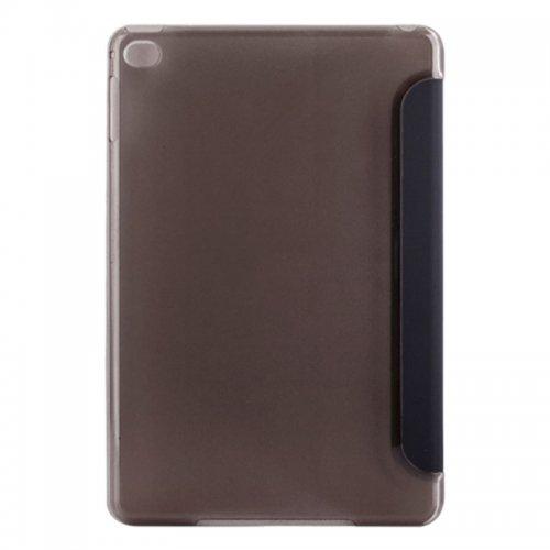 Slim PU Leather Magnetic Tri-Fold Smart Stand Cover Case for iPad Mini 4 - Black