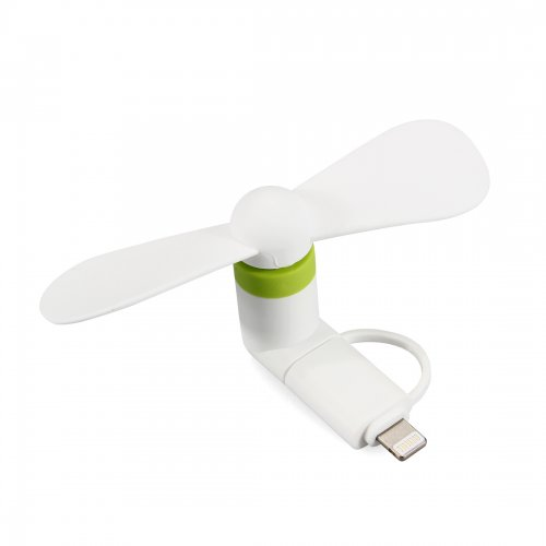 Portable 2 in 1 Phone Mini Fan Cooling Cooler for iPhone 6/7/8/XS Huawei Samsung - White