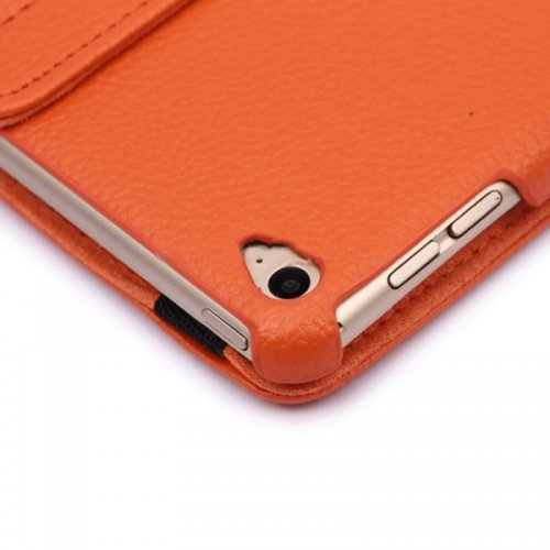 360 degree Rotating PU Leather Flip Stand Case Cover Skin for iPad Air 2(iPad 6) - Orange