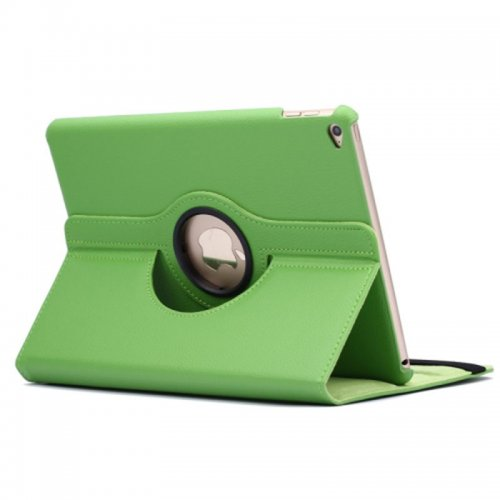 360 degree Rotating PU Leather Flip Stand Case Cover Skin for iPad Air 2(iPad 6) - Green