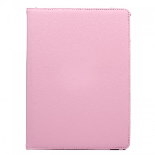 360 degree Rotating PU Leather Flip Stand Case Cover Skin for iPad Air 2(iPad 6) - Pink