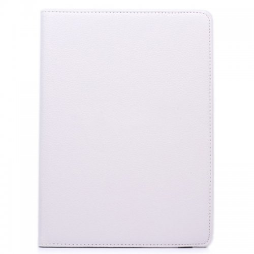 360 degree Rotating PU Leather Flip Stand Case Cover Skin for iPad Air 2(iPad 6) - White