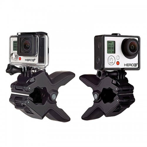 Sports Cameras Jaws Flexible Clip Clamp Mount Stand Holder for GoPro Hero 4/3+/3 /2/1 - Black
