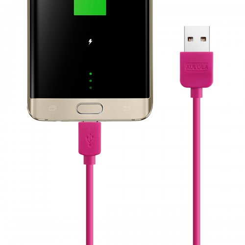 Rose Red 1M Meter Long USB Charger Cable For Samsung Galaxy S2 II i9100 S3 III i9300 Note