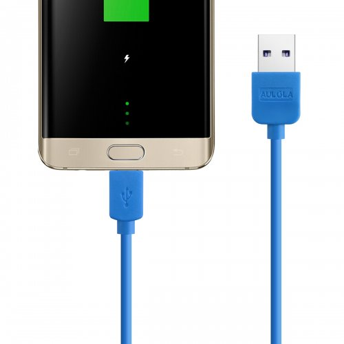 Blue 1M METER LONG USB CHARGER CABLE FOR SAMSUNG GALAXY S2 II i9100 S3 III i9300 NOTE