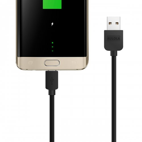 2 Meter Long Micro USB Charging Cable for Samsung Galaxy S2/S3- Black
