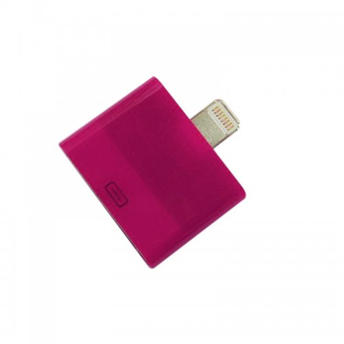 For Apple 30 Pin to Lighting Adapter iPhone 5G iPad Mini iPod Nano- Rose Red