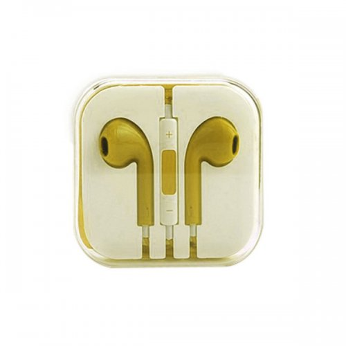 Earphone Headset with Remote & Mic for iPhone 5 Touch 5 iPad2 3 - Yellow
