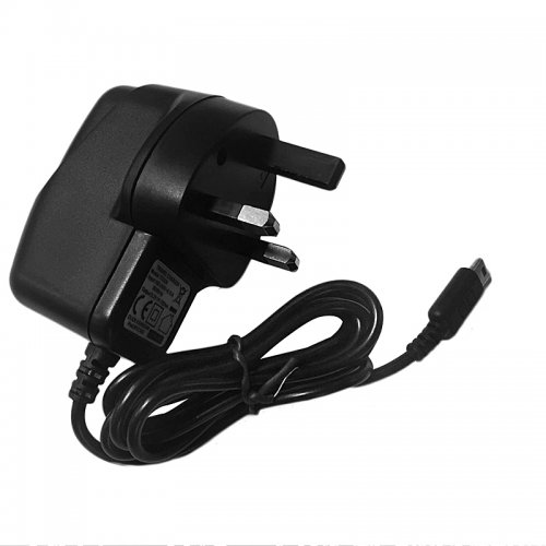 TC039 UK 500mA NDSL Wall Charger AC Adapter Cable - Black