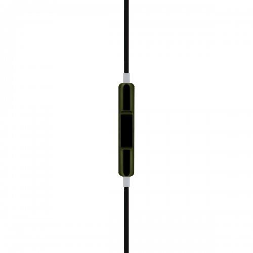 Electroplating Metallic Earphone with Volume Control/Mic - Black