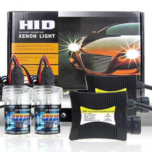 55W HID Xenon Conversion KIT Headlights H7 8001K - Brilliant Blue Light