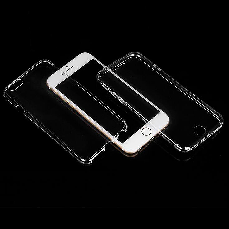 360 Degree Front and Back Soft Phone Cover Case for iPhone 7 Plus - Transparent