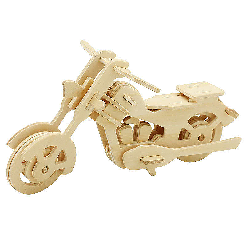 Kids Wooden 3D Jigsaw Puzzle Children Educational Toy - Motorcycle