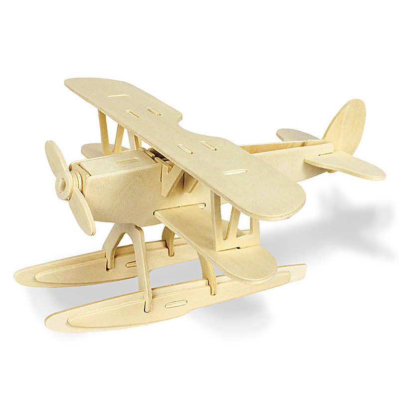 Kids Wooden 3D Jigsaw Puzzle Children Educational Toy - Seaplane