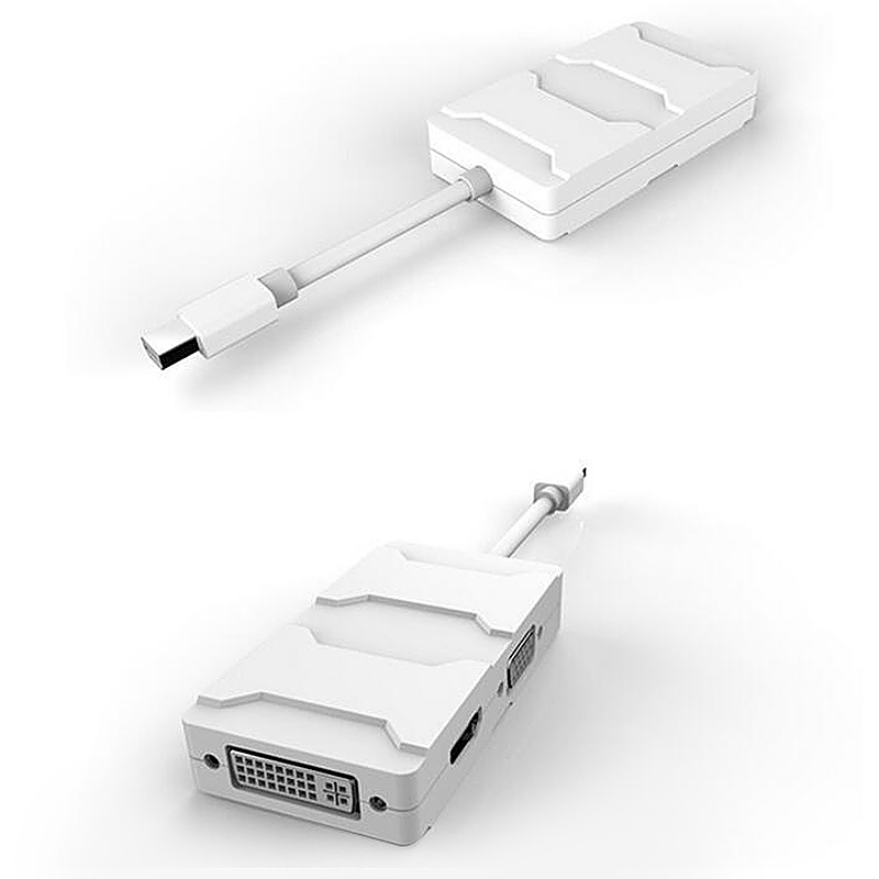 3 in 1 Mini Display Port DP to HDMI VGA DVI Adapter Cable