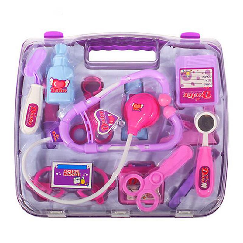 Kids Children Role Play Medical Set Kit Gift Hard Carry Case