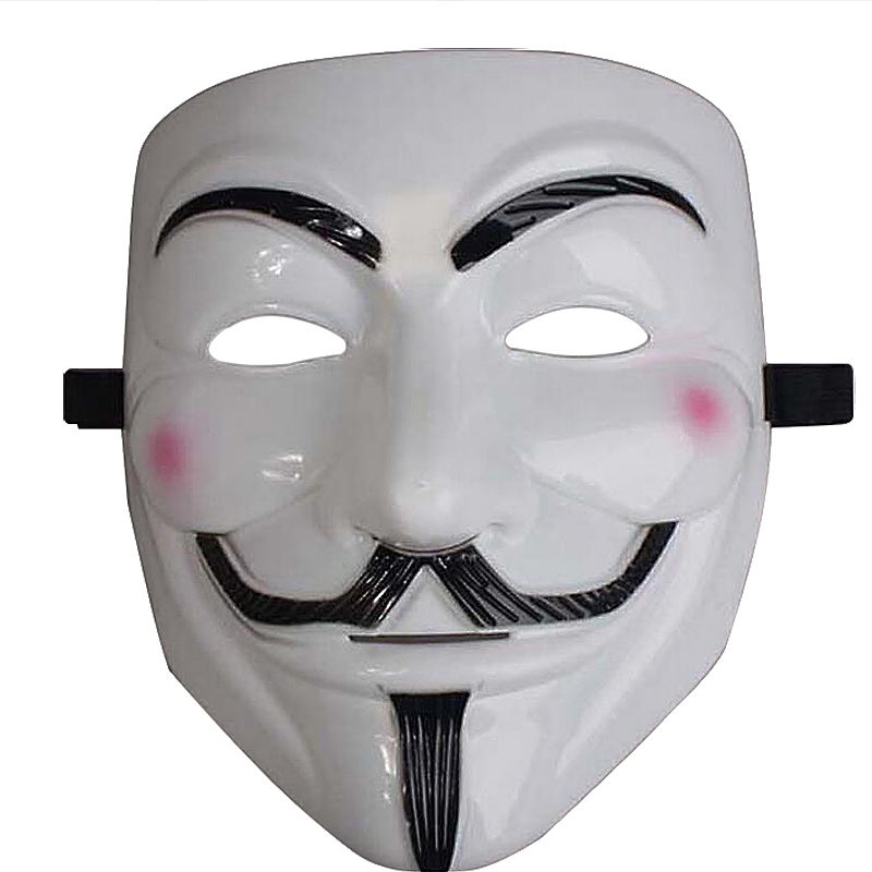 Halloween V Face Mask for Masquerade Cosplay - White Face