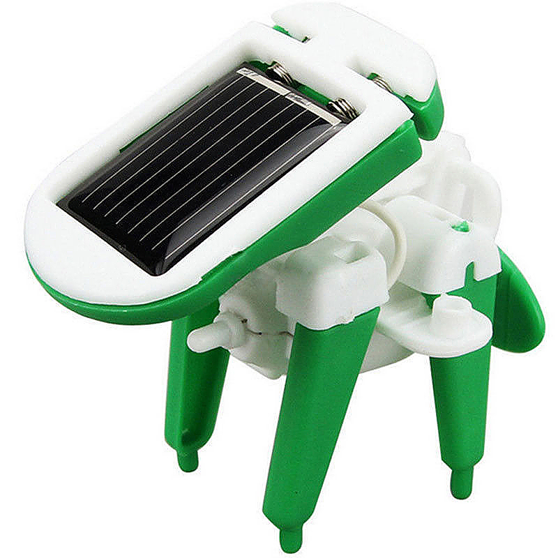 Robot Kit 6 in 1 Build Own High-tech Solar Bots DIY Educational Toys
