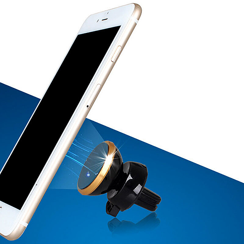 Universal 360 Rotation Magnetic Support Cell Phone Car Dash Holder Stand Mount - Rose Gold