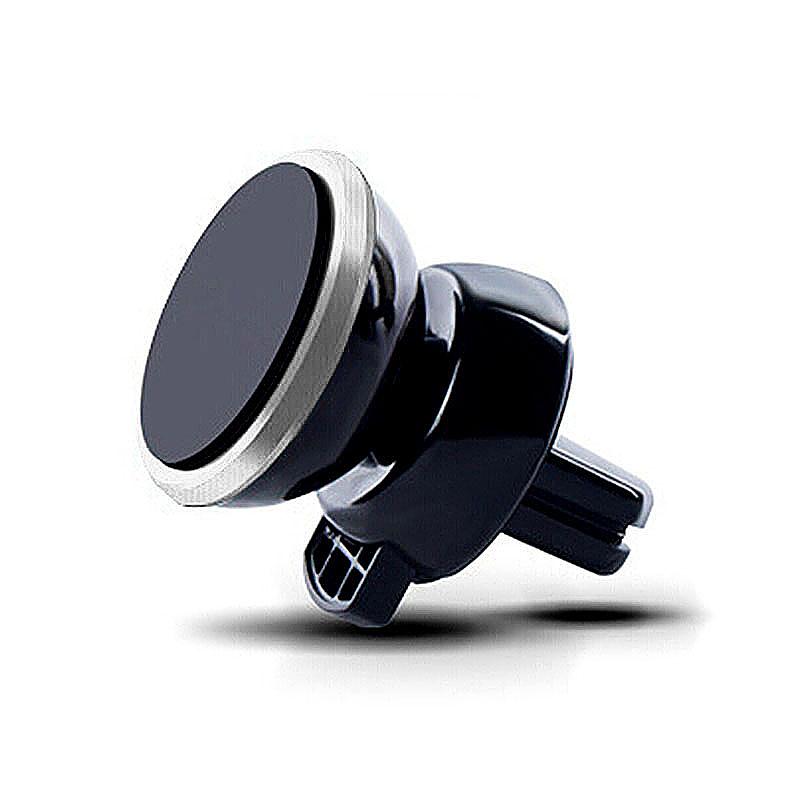 Universal 360 Rotation Magnetic Support Cell Phone Car Dash Holder Stand Mount - Silver