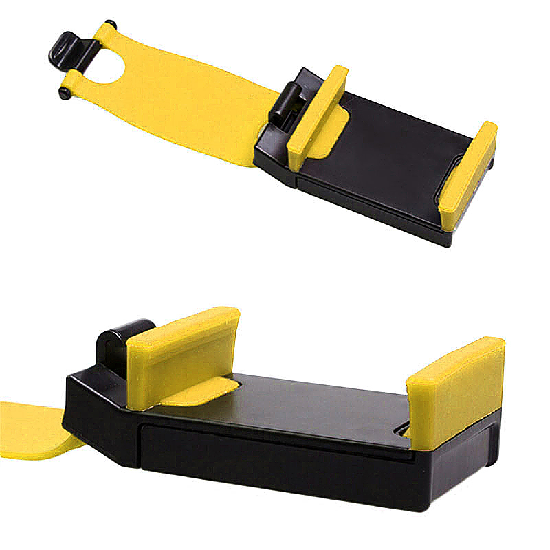 Steering Wheel Mobile Phone Handsfree Navigation in Car Holder Mount Frame - Yellow