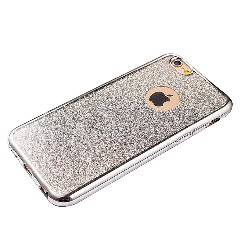 Fashion Bling Silicone Glitter Shockproof Case Cover for iPhone 7 - Silver