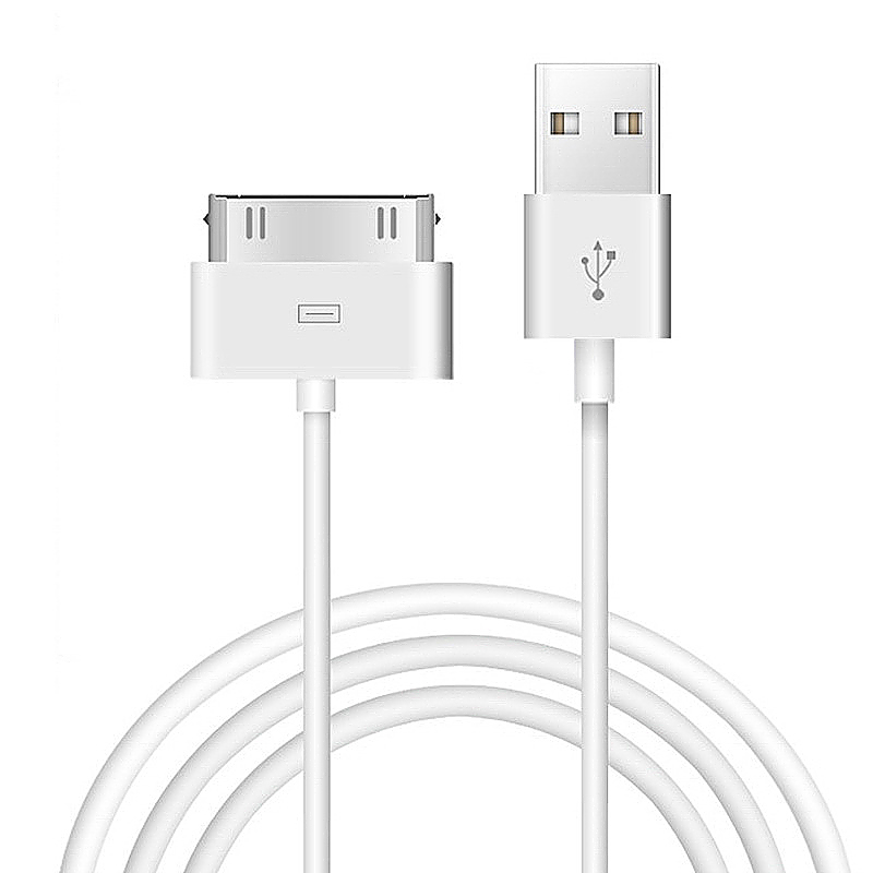1m Data Charging Cable for iPhone4/4S - White