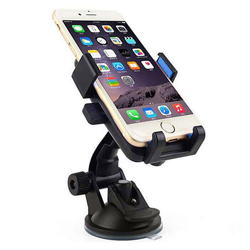 360 Degree Car Dashboard Suction Grip Phone Mount Holder Stand - Blue