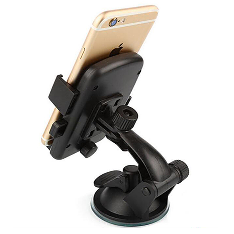 360 Degree Car Dashboard Suction Grip Phone Mount Holder Stand - Red