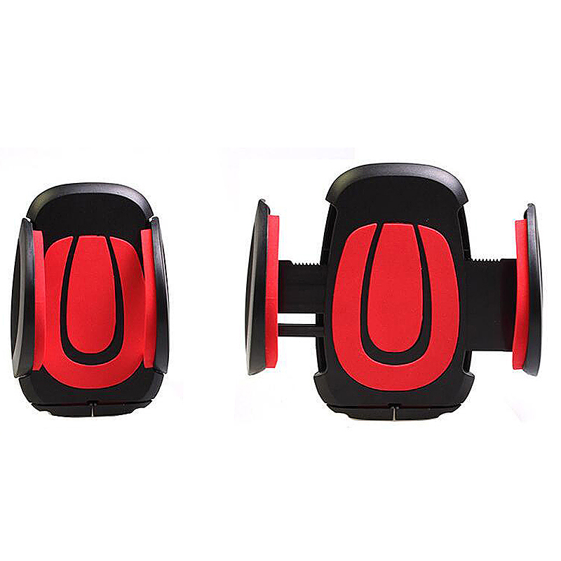 360 Degree Car Dashboard Suction U Model Phone Mount Holder Stand - Red