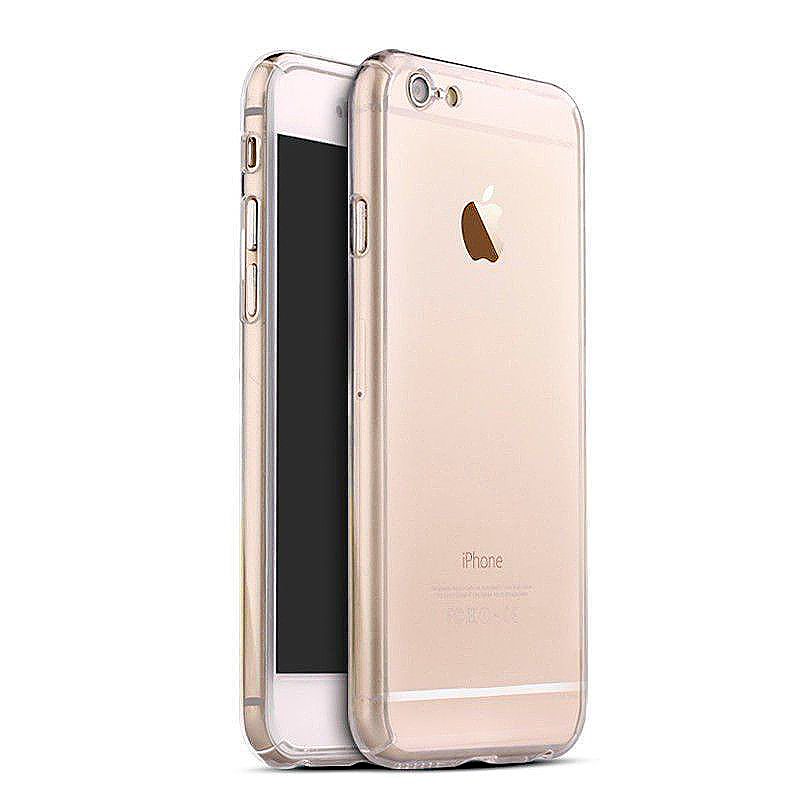 360 Full Coverage Hard Thin Case + Tempered Glass Cover for iPhone 7 Plus - Transparent