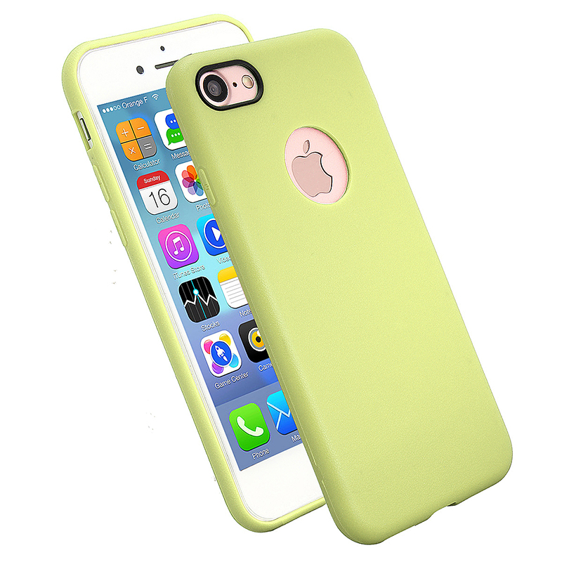 TPU Soft Protective Phone Cover Case for iPhone 7 - Fluorescent Green